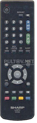 010150 пульт для телевизора SHARP LC-20V1RU-BK