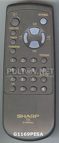 Этот пульт подходит к следующей аппаратуре.  Просмотров: 386.  SHARP телевизор CV-14H-SC.