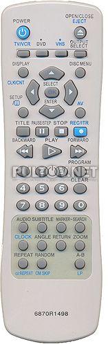 6870R1498 пульт для DVD/VHS-плеера LG DC590W и др.
