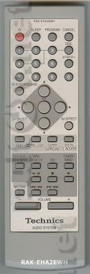 RAK-EHA28WH пульт для музыкального центра TECHNICS SC-EH760