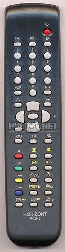 RC-6-5 , RC5-6 пульт для телевизора HORIZONT