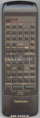 RAK-SA501P оригинальный пульт для ресивера Technics SA-GX303 и др.