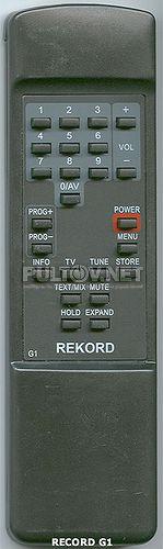 REKORD G1 пульт для телевизора REKORD и Continental