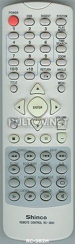 RC-382H пульт для DVD-плеера