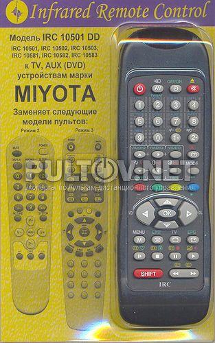 заменяющий IRC-10501DD [MIYOTA TV, AUX/DVD]