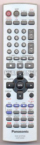 EUR7722060 пульт для домашнего кинотеатра Panasonic SC-HT623EES