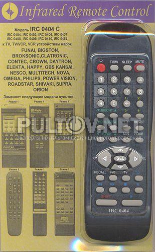 заменяющий IRC-0404D TV Funai S2100PF, S2500PF, S2900PF , MK11, MK12, FA-1413H