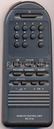RC51A пульт для телевизора Nicom CT-1407