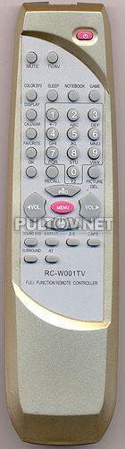 RC-W001TV , EVGO RC-W001TV пульт для телевизора