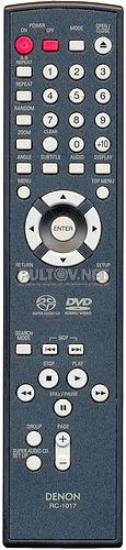 RC-1017 пульт для DVD-плеера DENON DVD-1930