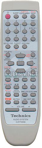 EUR7702290 пульт для музыкального центра Technics SC-DV290EE-S и других
