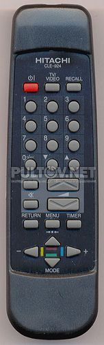 CLE-924 пульт для телевизора HITACHI C21-RM275 и других