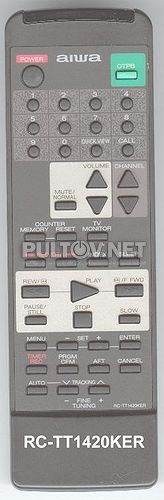 RC-TT1420KER пульт для видеомагнитофона Aiwa HV-XC800 и др.