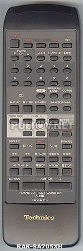RAK-SA705XH, RAK-SA704XH пульт для ресивера Technics SA-GX550