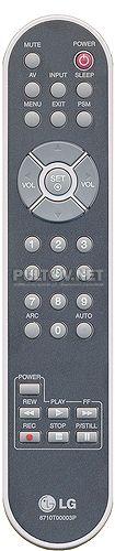 6710T00003P пульт для монитор / телевизора LG M3201C