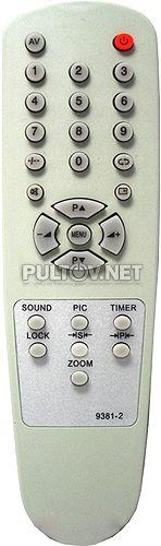 9381-2  (= POLAR 9341), 9381-73 пульт для телевизора POLAR и GENERAL