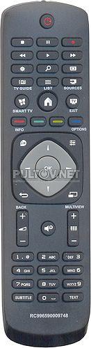996590009748, 996590020164 неоригинальный пульт для телевизора PHILIPS 42PFT5609 и других
