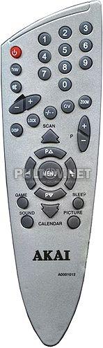 A0001012 пульт для телевизора Akai 21CTF33BC и других
