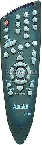 A0001013 пульт для телевизора Akai 21CTU80BB и других