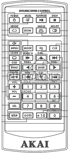 ADV-64DR пульт для автомагнитолы AKAI