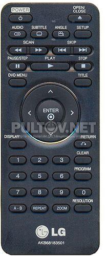 AKB68183501 пульт для стильного DVD-плеера LG TS-200