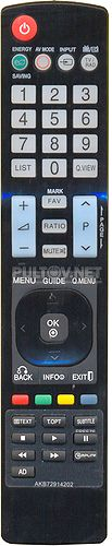 Пульт для телевизора LG AKB72914202 неоригинальный