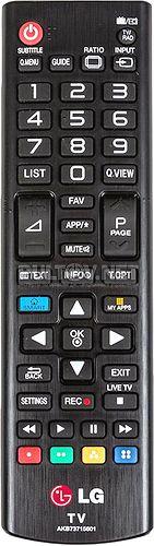AKB73715601 оригинальный пульт для телевизора LG 47LA667V и других (то есть для моделей 2013 года)