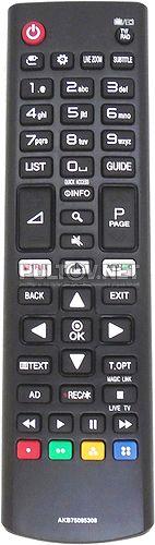 AKB75095308 неоригинальный пульт для телевизора LG 43UJ635V и др.