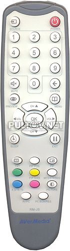 RM-KB, RM-JS, RM-K2 пульт для TV-тюнера AVerTV DVI Box 1080i