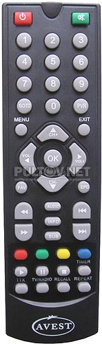 TP-1001, TP-1004 пульт для цифрового эфирного ресивера Avest