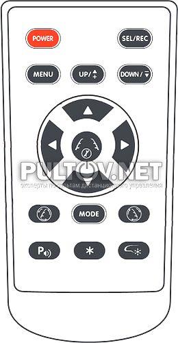 AVIS AVS0488DVR пульт для зеркала заднего вида со встроенным видеорегистратором (вариант 2)