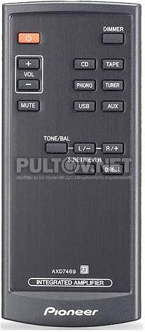 AXD7469 пульт для интегрального стерео усилителя Pioneer A-A9-J и других