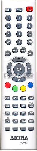 GK23J2-C2, GK23J2-C8 пульт для телевизора AKIRA