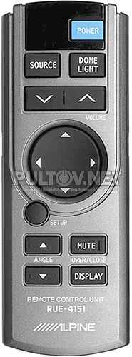 RUE-4151 пульт для потолочного монитора Alpine TMX-R705