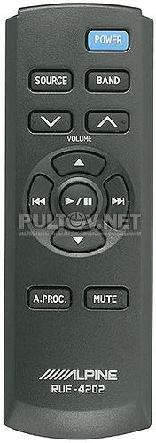 RUE-4202 пульт для автомагнитолы ALPINE CDA-9887R