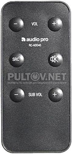 Audio Pro RC-ADD40 пульт для акустической системы ADDON FOUR