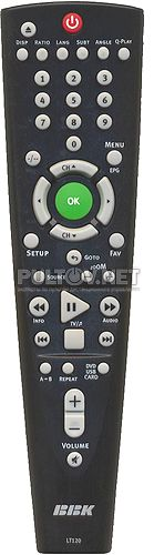 LT120 неоригинальный пульт для портативного телевизора с караоке
