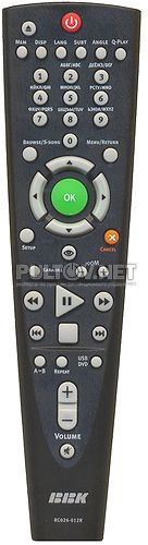 RC026-12R неоригинальный пульт для DVD-плеера BBK DV813X и др.
