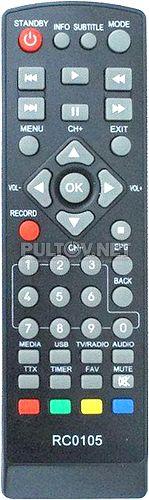 RC0105 пульт для STB-приставки BBK STB-105