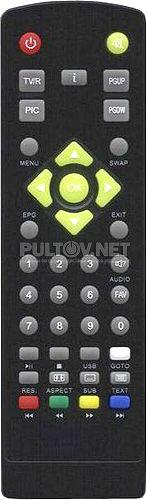Телецифра MiNi SD2010CI DVB-T пульт для ресивера (вариант 2)
