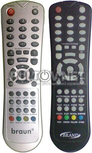 BRAUN LC19/HK 06RS , BRAND, ERISSON 15LA20 пульт для телевизора
