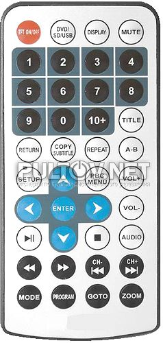 AK-768B, AK-888B пульт для портативного DVD-плеера BRAVIS