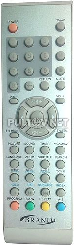 Brand 16190 пульт для телевизора со встроенным DVD-плеером