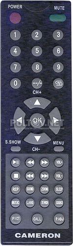 EP-1100, CAMERON CTV-7010W и CTV-7010G пульт для портативного телевизора