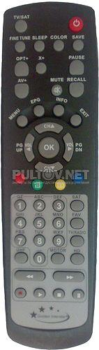 GI-S890 CRCI HD EXCELLENCE пульт для спутникового ресивера Golden Interstar (старый вариант пульта)
