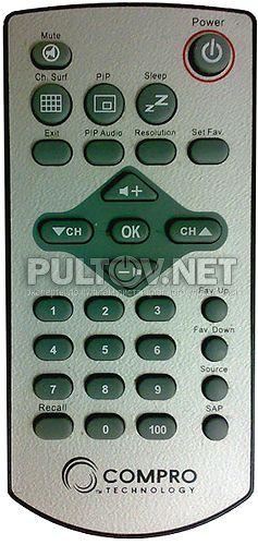 COMPRO VideoMate V150F , V200F, V220F пульт ДУ