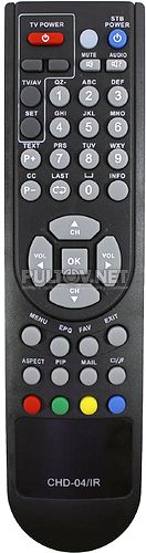 CHD-04/IR , CONTINENT TV CHD-04IR пульт для спутникового ресивера