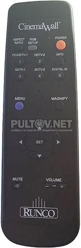 Runco CW-43MC пульт для плазменной панели Runco