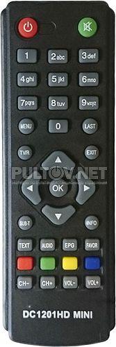 DC1201HD mini пульт для DVB-T2-ресивера