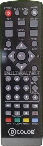 DC1001HD пульт для цифрового ресивера
